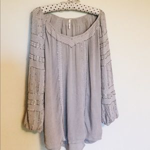 Free People Beaded Embroidered Tunic